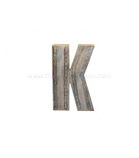 Hand Painted Wooden Initial K
