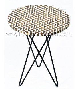 Tiny Triangles White & Brown Coffee Table