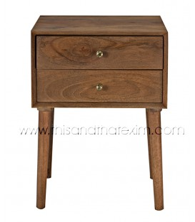 Wooden Cabinet 2 Drawer Night Stand