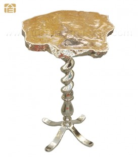 Brown Agate Organic Edge Side / Single Piece / Coffee Table
