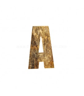 Natural Wooden Initial A with Base