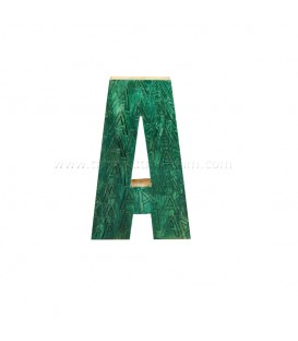 Wooden Initial A with Color