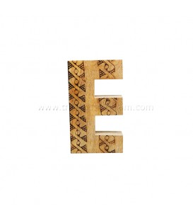 Natural Wooden Initial E